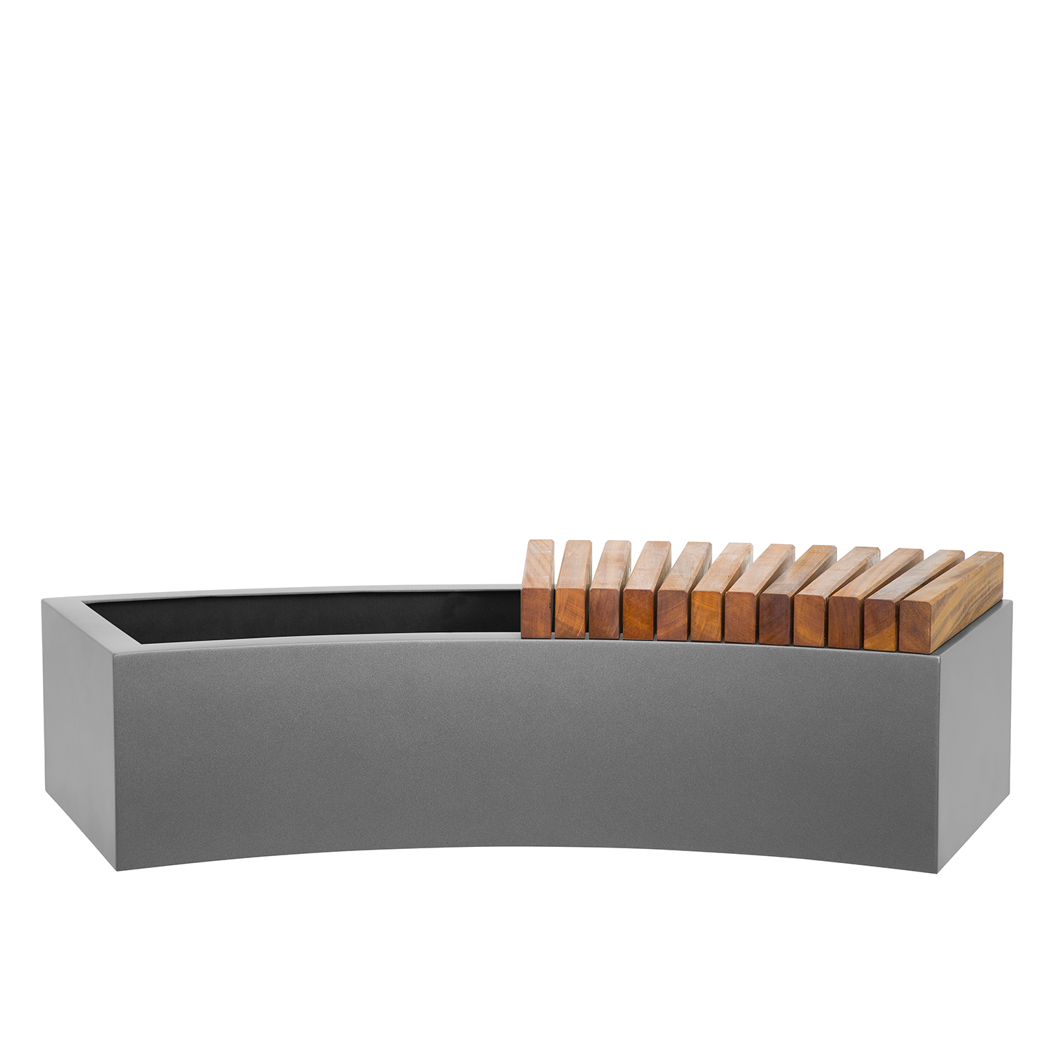 Curved Trough Quality Grp Planter By Europlanters