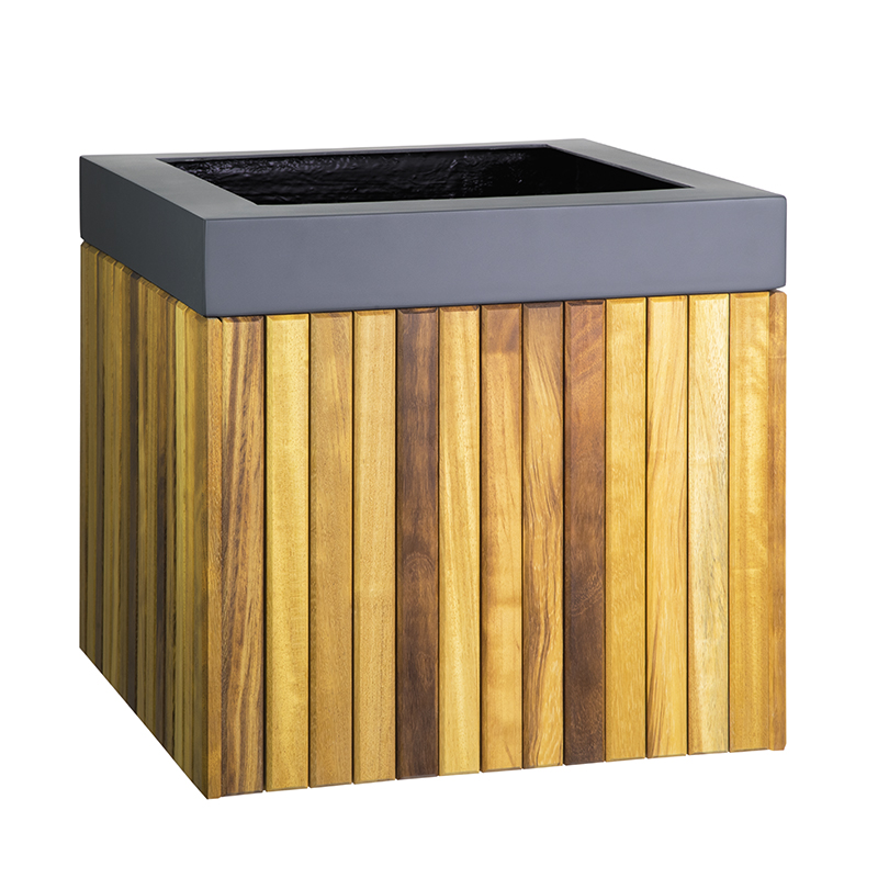 Windsor Cube timber wooden planter