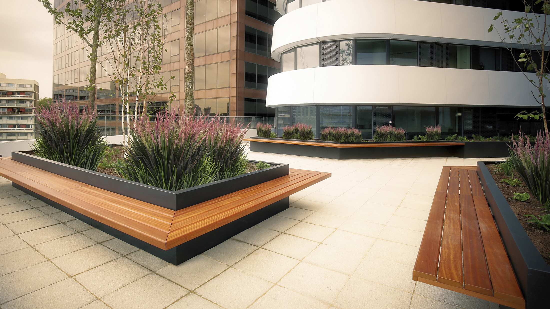 Westminster Bridge Road Planters by Europlanters