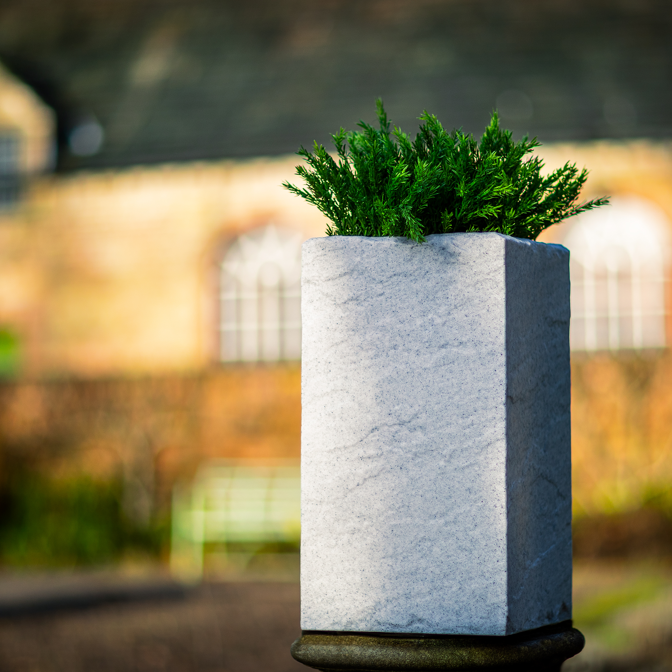 Stone-Look-Tall-square-plastic-planter-by-europlanters
