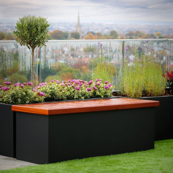 Hidden Storage Bench Street Furniture by Europlanters