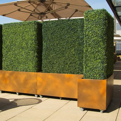 Corten Effect Planter in GRP