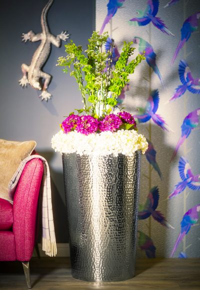 HAMMERED STAINLESS STEEL Metal Planter