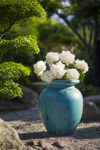 VERDIGRIS Millennium Vase Planter in GRP
