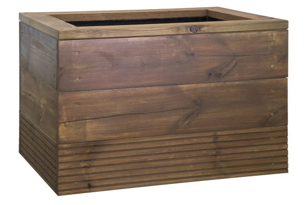 WOODEN DECKING PLANTER Waterloo by europlanters