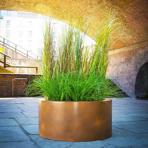 Corten Cylinder planter