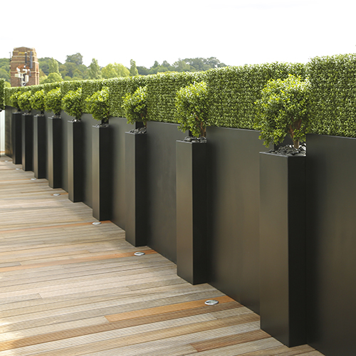 TALL TROUGH PLANTER in GRP by EUROPLANTERS