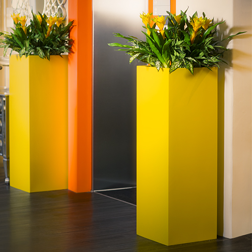 TALL SQUARE PLANTER by Europlanters
