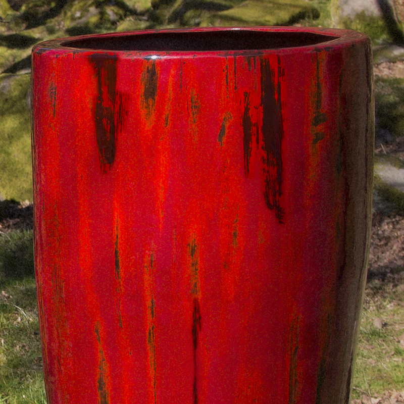 GRP WEEPING RED Effect Planter by Europlanters