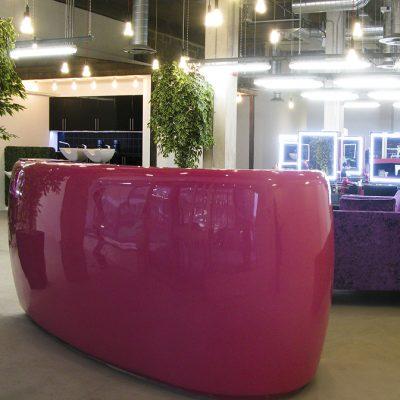 Bespoke Pink Desk in GRP