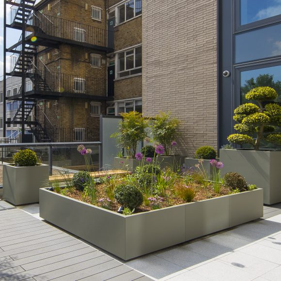 LARGE TROUGH PLANTER in GRP by Europlanters