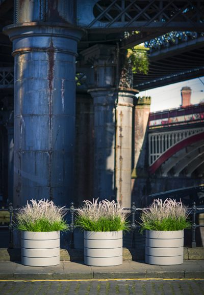 MODULAR CYLINDER PLANTERS in GRP